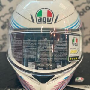 Casco integrale K3 SV E2205 MULTI – SAKURA PEARL WHITE/PURPLE